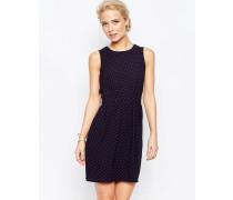 Closet Vorne gebundenes Kleid mit Punktemuster Schwarz