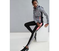 Sport-Leggings aus der Kollektion mit Schlangenmuster Schwarz