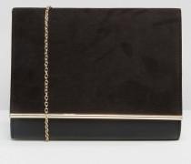 Envelope-Clutch-Tasche Schwarz