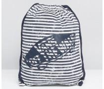 Gestreifte Tasche mit Logo und Kordelzug Mehrfarbig