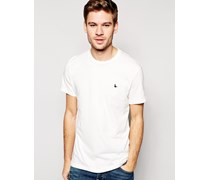Sandleford T-Shirt mit Fasan-Logo Weiß