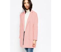 Übergroßer Mantel mit Taschen Rosa