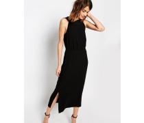Kleid mit überkreuztem Design Schwarz
