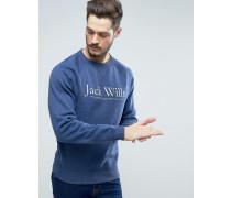 Blackwell Sweatshirt in Tiefblau mit Grafiklogo Blau