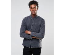 Levi's Line 8 Graues Jeanshemd in Used-Waschung mit einer Tasche Grau