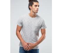 Kurzärmliges, gestreiftes T-Shirt mit einer Tasche Grau