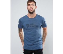 Blaues T-Shirt mit Logo Blau