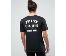 Woodburn T-Shirt mit Logo-Print hinten Schwarz