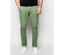 Schmale Chinohose Grün