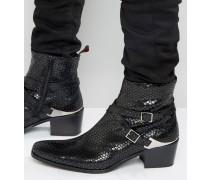 Manero Jodphur-Stiefel aus Leder Schwarz