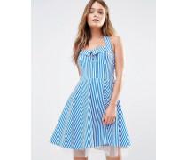 Skaterkleid mit Streifen im Stil der 50er Blau