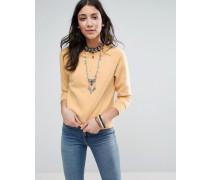 Vintage-Pullover Cremeweiß