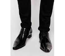 Schuhe mit Mittelnaht Schwarz
