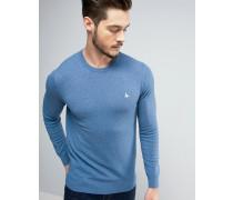 Seabourne Pullover mit Rundhalsausschnitt in Blassblau Blau