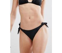 Triangel-Bikini mit Raffung Schwarz