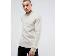Sweatshirt mit Rundhalsausschnitt Cremeweiß
