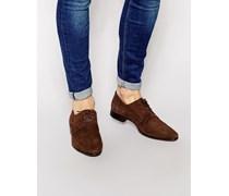 Derby-Schuhe aus Wildleder Braun