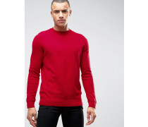 Gerippter Pullover in Rot Rot