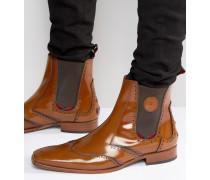 Scarface Chelsea-Stiefel aus Leder Bronze