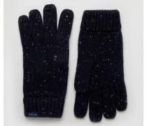 Marineblaue Handschuhe aus Lammwolle Marineblau