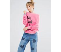 My Heart Pullover Rosa