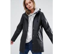 Schwarze Jacke mit Kapuze Schwarz