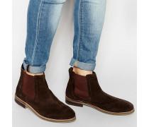 Chelsea-Stiefel aus braunem Wildleder Braun