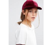 Samt-Mütze Rot