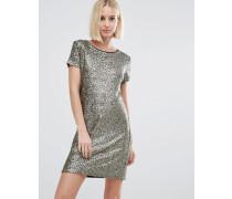 Angelica T-Shirt-Kleid mit Pailletten Gold