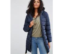 Wattierte Jacke mit Gürtel Marineblau