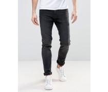 Friday Enge Jeans in Anthrazitschwarz Schwarz