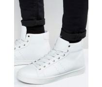Hohe Sneaker in Weiß Weiß