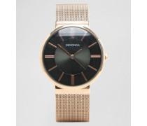 Roségoldene Uhr mit Netzarmband, exklusiv bei ASOS Gold
