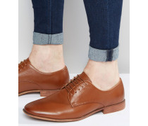 Derby-Schuhe in Hellbraun mit Natursohle Bronze