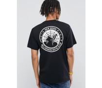 T-Shirt mit Neumond-Print Schwarz