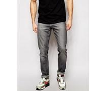 Twister Schmale Jeans mit hellgrauer Waschung Grau