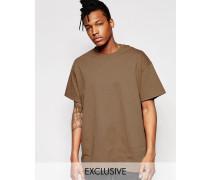 Oversize-T-Shirt Braun