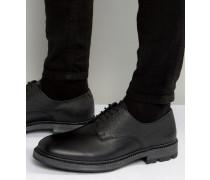 Derby-Schuhe aus Scotchgrain-Leder Schwarz