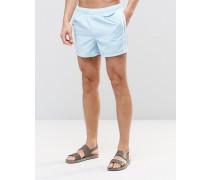 Swim Blaue Badeshorts mit seitlichen Streifen, kurzer Schnitt Blau