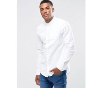 Regulär geschnittenes Oxford-Hemd in Weiß Weiß