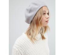 Baskenmütze aus Wolle Grau