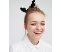 Gepunktetes Haarband Schwarz