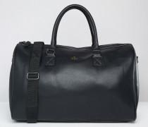 Reisetasche in Schwarz mit goldener Prägung Schwarz