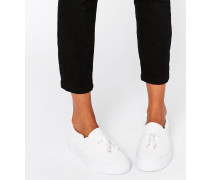 DONGLE Sneaker zum Hineinschlüpfen mit Knebelverschluss Weiß