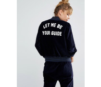 Let Me Be Your Guide Baseballjacke Marineblau