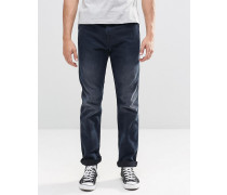 Levi's Line 8 Schmale 522-Jeans in Karottenform in dunkler Stormy-Acid-Waschung Blau