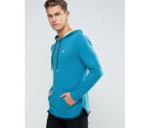 Blauer Kapuzenpullover aus Jersey mit Logo Blau