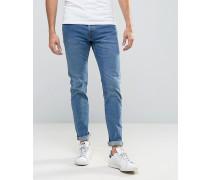 Wednesday Schmal geschnittene Jeans in Peer-Blau Blau