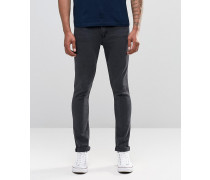 Hautenge Skinny-Jeans in OD Almost Black-Waschung Schwarz