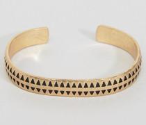 Hochwertiges Hahnentritt-Armband in Gold Gold